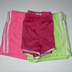 3 Pairs Girls Gym Shorts size M 7-8 EUC